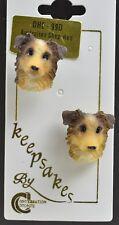 Australian Shepherd Red Dog Earrings Novelty Jewelry Post Earrings Accessory Pet