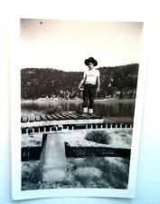 OLD PICTURES RECOVERED FROM ESTATE YOUNG BOY IN CUFFED JEANS & COWBOY HAT