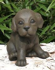 sculpture en pierre chiot chien Figurines d'animaux décoratives