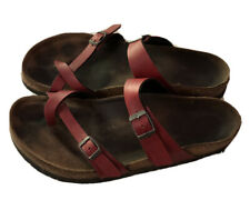 Women's Birkenstock Mayari Bordeaux Toe Loop Sandals Size 11.5 - 12  Straps