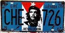 CHE GUEVARA REVOLUCION CUBA TARGA METALLO LICENSE PLATE VINTAGE POSTER SOUVENI