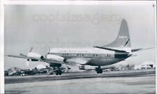 1957 Lockheed Propjet Electra Plane Takes Off Lockheed Air Terminal Press Photo
