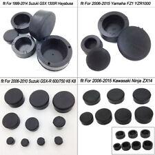 Frame Plugs Screw Cap Rubber Set For Suzuki GSXR 600 750 1000 Hayabusa GSX1300R