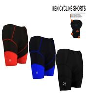 Mens Cycling Shorts Coolmax Bicycle Road Bike Padded MTB Mountain Biking Lycra