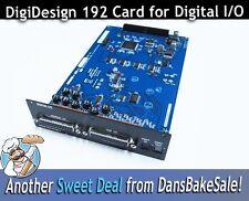 Digidesign 192 Digital I/O Card  9900-28-00 - New Open Box NOS, w/ Warranty Card