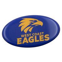 West Coast Eagle AFL Emblem OVAL Decal Badge Car Bike Laptop Tool Box Bar Gift