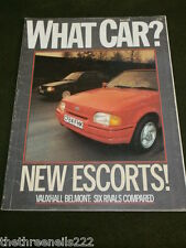 WHAT CAR? - NEW ESCORTS - MARCH 1986