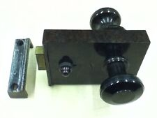 Original Vintage 1930's Art Deco Brown Bakelite Door Rim Lock Keep Knob (GR075)