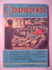 OMNIBOOK Magazine January 1948 IRVING STONE +++