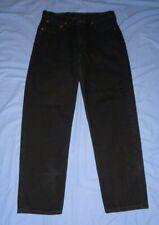 LEVI'S 550 Black Straight Leg Jeans Size 33 x 32