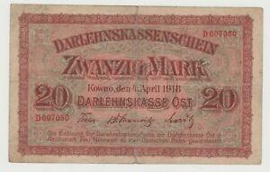 Kowno, 20 Mark, 1918