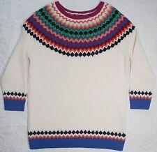 Talbots Fair Isle Nordic Sweater Wool Cotton Multi Colored Petite Small PS NWT
