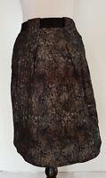 VERONIKA MAINE Black/Sliver Skirt Size 14