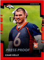 2017 Donruss Football Press Proof Red Card #369 Chad Kelly Broncos
