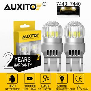 2800 Lumens Super Bright 9-16V 7441 7443 7444 LED Back Up Reverse Lights Bulbs