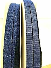 """Sew on Hook and Loop Tape Fastener 1/2"""" Navy Blue 100 yds #V"""
