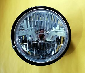 Klarglas LED Scheinwerfer schwarz Moto Guzzi California Mille GT black headlight