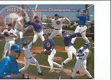 2003 CHICAGO CUBS 8X10 PICTURE MLB CENTRAL DIVISION CHAMPIONS