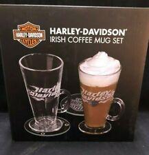 Harley Davidson Irish Coffee Mug Set