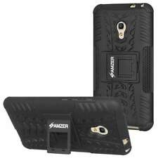AMZER Black Dual layer Warrior Hybrid Case for Alcatel OneTouch Pixi 4 5 Inch