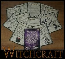 12 Witchcraft Wicca Spells Book Of Shadows Pagan Ritual Magick BOS Healing...