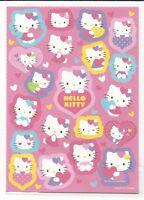 Sanrio Hello Kitty Stickers Hard Plastic Glitter Irredescent Stars Hearts