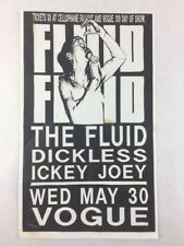 The Fluid - Dickless & Ickey Joey May 30, 90s at Vogue Concert Poster 8.5 x 14