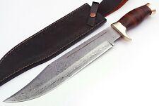 "18"" UD Custom Knives Handmade Damascus Steel Crocodile Dundee Bowie Knife"