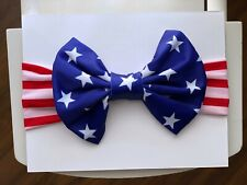 Day Star Baby Girl American Flag Hairband Bow Knot Turban 4th Of July Headband