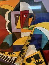 Original Yeb Silk Thread Art - Picasso  - Abstract - From Ghana