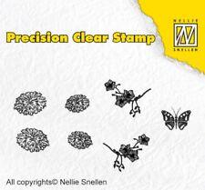 Nellie Snellen Precision Clear Cling Stamps - Nature Dandelion APST015 7PCS