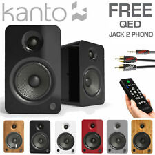 KANTO YU6 200W Active Powered Bluetooth Bookshelf Studio Speakers Phono Pre-Amp