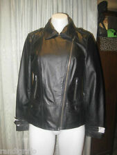 BRAND NEW! womens black leather bikie style jacket sz 10
