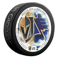 VEGAS GOLDEN KNIGHTS vs ST LOUIS BLUES NHL Matchup Hockey Puck 3/30/18 - NEW