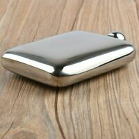 Stainless Steel Texture Rectangular Hip Flask Exquisite Portable Hip Flask Gift