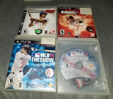 Lot of 4 MLB Baseball Titles for Sony Playstation 3!! 2K8 2K12,The Show 10 &11 !