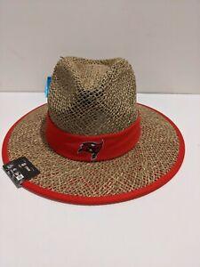 New Era NFL Tampa Bay Buccaneers Safari Training Straw Hat Cap Red Bucs OSFA