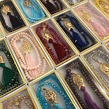 Crystal Prayer Beads, Tasbih, Misbaha, Islamic Gift by Royal Sejadah® FREE BOX