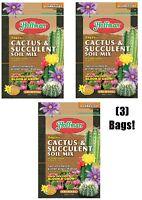 (3) bags Hoffman 10404 4 Quart Organic Cactus & Succulent Potting Soil Mix