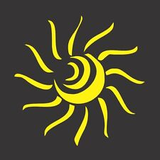 Yellow Sun Abstract- Die Cut Vinyl Window Decal/Sticker for Car/Truck