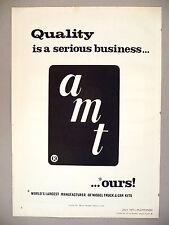 AMT Model Truck & Car Kits PRINT AD - 1971 ~ large logo