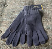Nwt Polo Ralph Lauren Touchscreen Compatible Gloves Blue Cotton/Wool G9