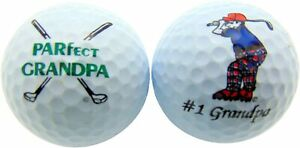 3 Pack Best Grandpa Golf Balls. Your choice: Pro V1, Callaway Chrome Soft, B330