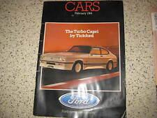 FORD CARS - MODEL RANGE CATALOGUE - FIESTA ESCORT CAPRI GRANADA / XR3i - 1984