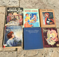 BUNDLE OF 6 VINTAGE CHILDRENS BOOKS HARDBACK POPULAR STORIES GIRLS