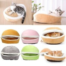Hamburger Shaped Pet Houses Detachable Puppy Teddy Dog Cat Beds Round Windproof