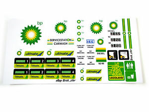 STICKERS for CUSTOM LEGO 6375 6397 7993 Bp BP Service Gas Station BUILDS, Etc