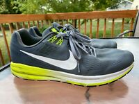 Nike Air Zoom Structure Men's Running Shoes Gray White Volt Size 13 904695-007