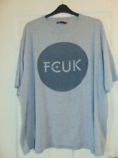 FCUK French Connection UK Grey Logo T-Shirt Cotton Size 3XL XXXL