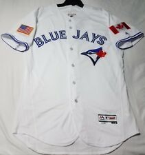Majestic AUTHENTIC SIZE 44 LARGE, TORONTO BLUE JAYS, FLEX BASE ON FIELD JERSEY